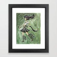 Rock Starlette Framed Art Print