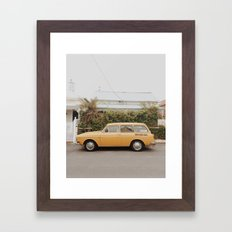 Vintage VW parked in Prahran, Melbourne. Framed Art Print