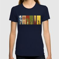 Assemble Womens Fitted Tee Navy MEDIUM