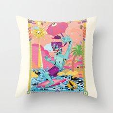 surfeur Throw Pillow