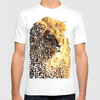 LION: THE KING OF BEASTS… Mens Fitted Tee White SMALL