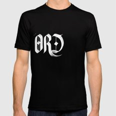 word Mens Fitted Tee Black SMALL