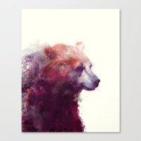 Bear // Calm Canvas Print