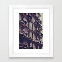 missing balcony Framed Art Print