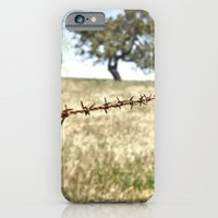 iPhone & iPod Case featuring Tree Behind Fence by spillboard