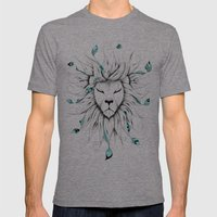 Poetic King Mens Fitted Tee Tri-Grey SMALL