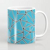 Shattered Ab Blue Mug