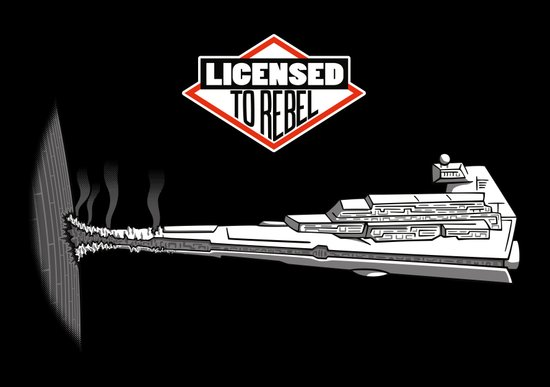 Licensed to Rebel Art Print
