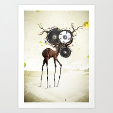 I'm on a horse Art Print