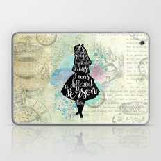 Alice in Wonderland - I Was A Different Person Then Laptop & iPad Skin