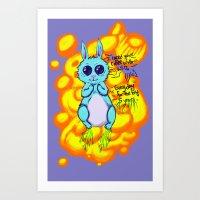Evil Little Bunny Art Print