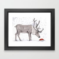 Christmas Reindeer Framed Art Print