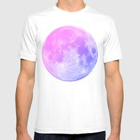 Neon Moon Mens Fitted Tee White SMALL