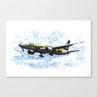Air New Zealand Hobbit B… Canvas Print