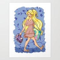 A modern princess: Rapunzel  Art Print