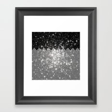 Chevron Universe Framed Art Print