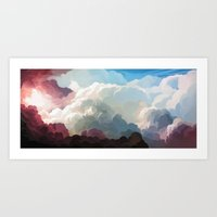 clouds Art Prints featuring Clouds by youcoucou