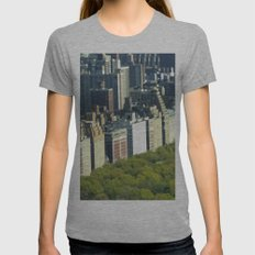 New York Central Park  Womens Fitted Tee Athletic Grey SMALL