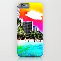 iPhone & iPod Case featuring Waikiki Beach Part II by The Digital Weaver