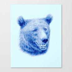 Brown bear is blue Canvas Print