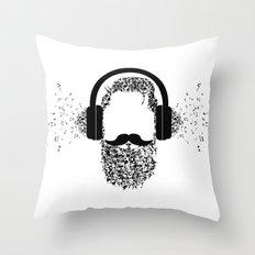 Beard The Music Throw Pillow