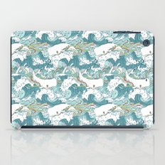 Whales and waves pattern iPad Case