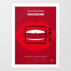 No626 My Videodrome minimal movie poster Art Print