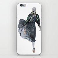 leather & ballet skeleton iPhone & iPod Skin