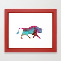 Raging Bull Framed Art Print