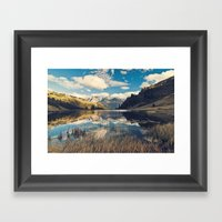 Reflets Framed Art Print