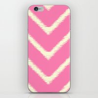 Pink Ikat Chevron iPhone & iPod Skin