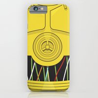 iPhone & iPod Case featuring C3P0 by Alex Patterson AKA frigopie76