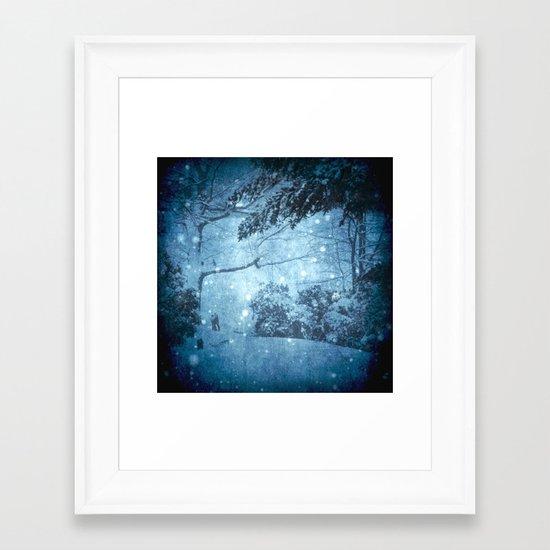 Winter View Framed Art Print