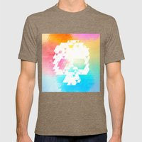Skull Colors Mens Fitted Tee Tri-Coffee SMALL