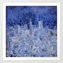 san francisco city skyline Art Print