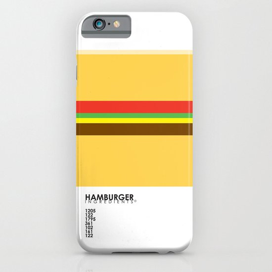 Pantone Food - Hamburger iPhone & iPod Case