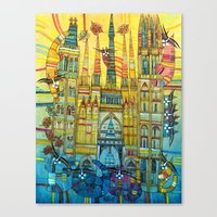CAT-HEDRAL Canvas Print