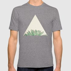 Echeveria Mens Fitted Tee Tri-Grey SMALL