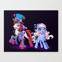 Mad T Ponies 'Alice and Tarrant' Canvas Print