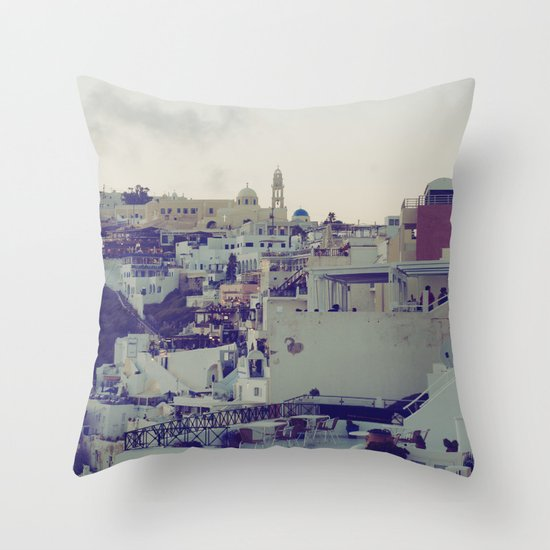 Fira at Dusk IV Throw Pillow