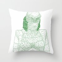 Creature From The Black … Throw Pillow