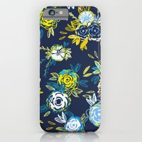 Flower Garden in Navy Neon iPhone 6 Slim Case