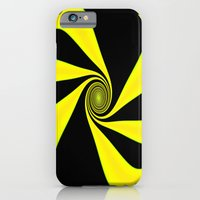 Abstract. Yellow+Black. iPhone 6 Slim Case