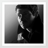 John in black and white Art Print