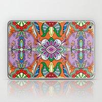 Colorful Boho Floral Pattern Laptop & iPad Skin