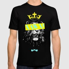King of The Jungle. Mens Fitted Tee Black SMALL