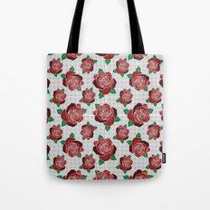 rose & dots pattern Tote Bag