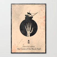 Pirates of the Caribbean 1 - Curse of the Black Pearl - minimal poster Canvas Print