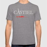 Castiel Mens Fitted Tee Tri-Grey SMALL