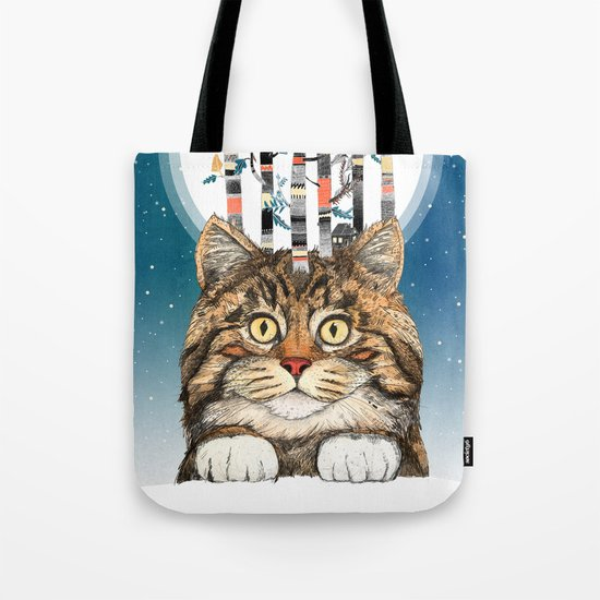 Feline Forest Tote Bag